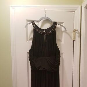 Black Long Prom & Cocktail Dress Rhinestones